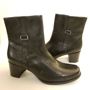 Clarks Black Leather Boots, Size 10M
